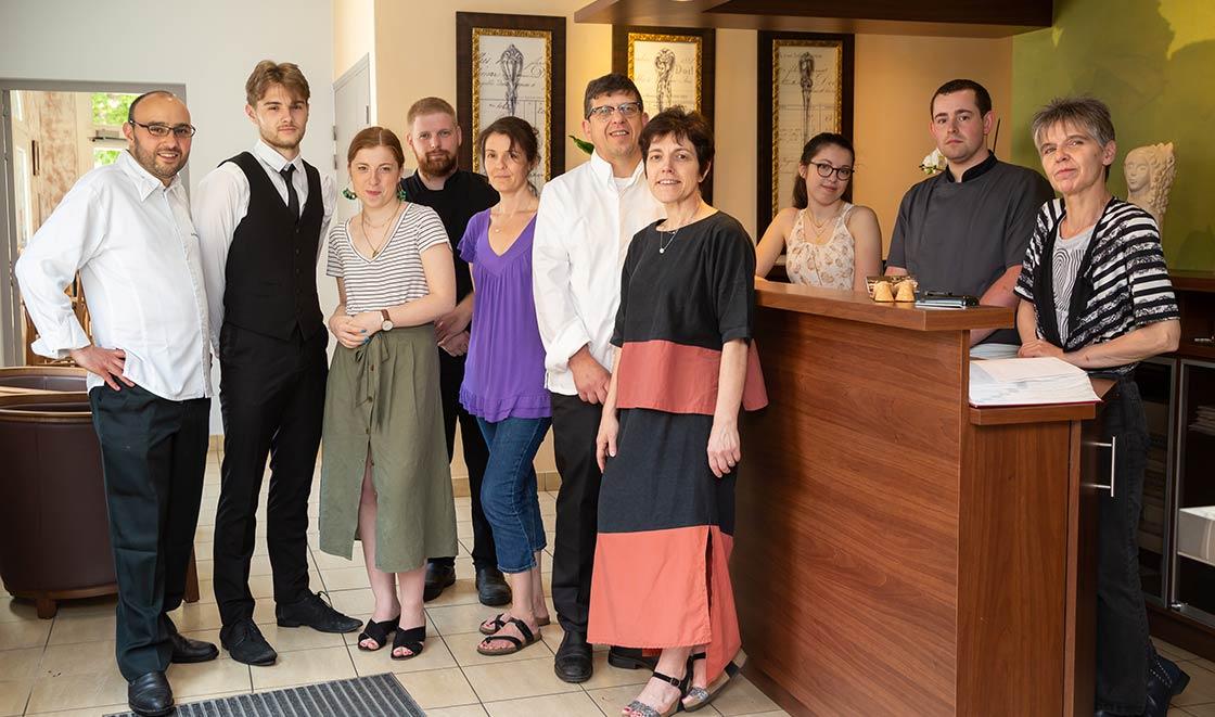 L'équipe de l'Hôtel Restaurant Famille Bourgeois à Chavignol